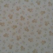 Bomullstyg beige blomma (Makower)