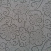 Bomullstyg grå blomma (Meadow Dance)