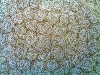 Bomullstyg beige ros (Hopscotch)