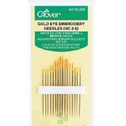 Gold Eye Embroidery Needles (Clover)