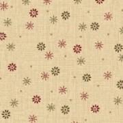 Bomullstyg beige/blom (Pieceful Pines)