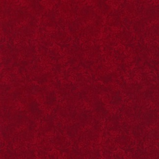 Bomullstyg rött filigranmönster (Echo)