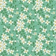 Bomullstyg småblommigt (Tilda Peggy turkos)