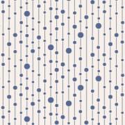 Bomullstyg prickar (Tilda Pearls blå)