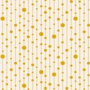 Bomullstyg prickar (Tilda Pearls gul)