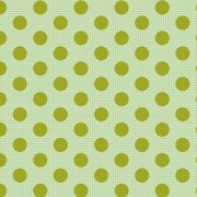 Bomullstyg grön prick (Tilda Dots)