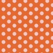 Bomullstyg prick (Tilda Dots orange)