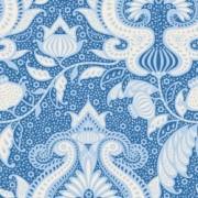 Bomullstyg Tilda Sunkiss Ocean flower blå