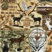 Bomullstyg vilda djur (Timeless Treasures)