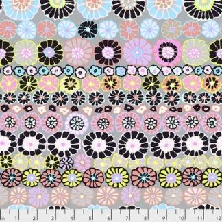 Bomullstyg Row Flowers (Free Spirit)
