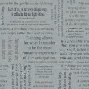 Bomullstyg grå text (Inspirations for Living)