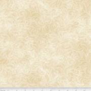 Bomullstyg beige blommönster (Bella Suede Wide)