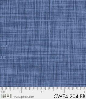 Bomullstyg blå väv (Color Weave)