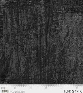 Bomullstyg svart/grå linjer (Terra)