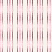 Bomullstyg röd rand (Tilda)