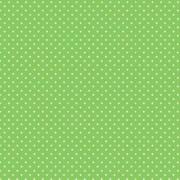 Bomullstyg Grönt/vit prick (Spot)