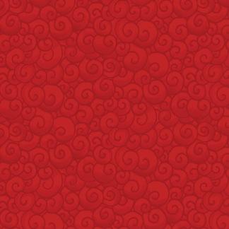 Bomullstyg rött mönster (A Quilter´s X-mas)