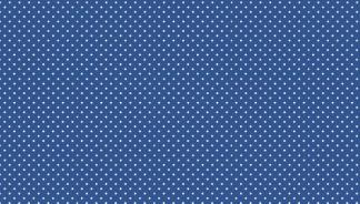 Bomullstyg blått/vit prick (Spot)
