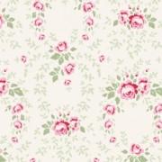 Bomullstyg blommotiv natur (Tilda Old Rose)
