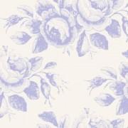 Bomullstyg blå rosor (Tilda Old Rose)