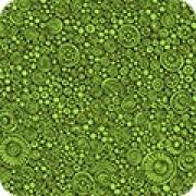 Bomullstyg svart-grönt mönster (Robert Kaufman)