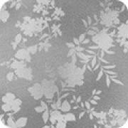 Bomullstyg grått blommönster (Surrey Meadows)
