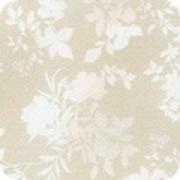 Bomullstyg vitt - beige (Surrey Meadows)