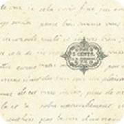 Bomullstyg naturvit text (Library of Rarities)