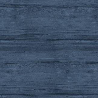 Bomullstyg havsblått (Washed Wood)