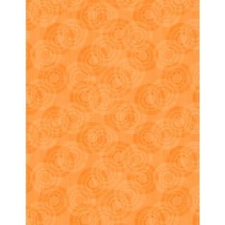 Bomullstyg cirklar orange (Circle Burst)