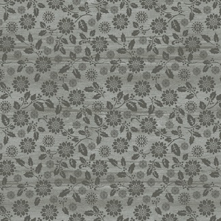 Bomullstyg grå blomma ton i ton (Snow Village)