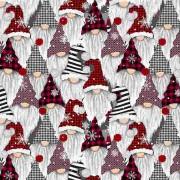 Bomullstyg julnissar (Holiday Gnomes)