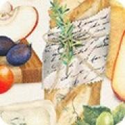 Bomullstyg ost, kex och druvor (Uncork and Unwind)