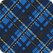 Bomullstyg blå diagonalruta (Winter's Grandeur)