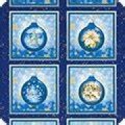 Panel blå julkulor (Winter's Grandeur)