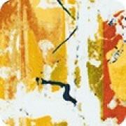 Bomullstyg abstrakt  (Warehouse District mustard)