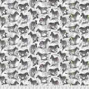 Bomullstyg zebror (Linework)