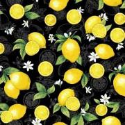 Bomullstyg citroner (Splash of Lemon)