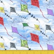 Bomullstyg drakar (Kites Clouds)