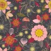 Bomullstyg rosa blommor (Patio Burst)