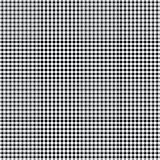 Bomullstyg vävda rutor svart-vitt (Mini Gingham)