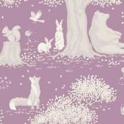 Bomullstyg Tilda landskap lila (Woodland Mauve)