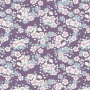 Bomullstyg Tilda violett blomma (Woodland Aster Violet)