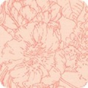 Bomullstyg aprikosrosa blommor (Nature´s Notebook)