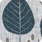 Lin-bomull blå blad (Quarry Trail)