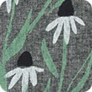 Lin-bomull svart blomma (Quarry Trail)