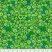Bomullstyg grönt knappmotiv (Button Mosaic)