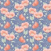 Tilda Gardenlife Poppies Blue