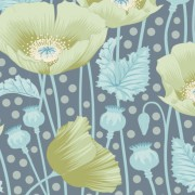Tilda Gardenlife Poppies Grey Green