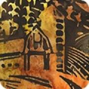 Batiktyg gul-orange-brun (Farm Country)